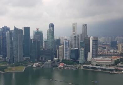 Resan mot Australien med ett stopp i Singapore